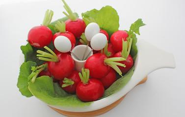 Türaufkleber Vorspeise radis rouge