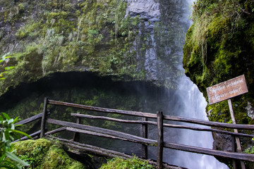 Chorro de Giron, scenic waterfall in the Yunguilla valley, Ecuador