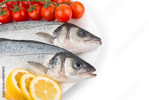 Fresh raw fish on a dish stock photo and royalty free for Raw fish dish