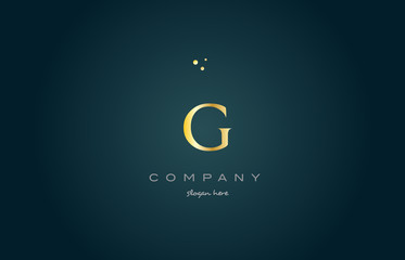 g gold golden luxury alphabet letter logo icon template