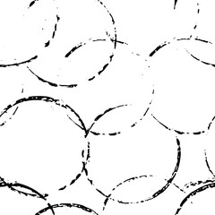 Grunge seamless pattern. Background with circles. Ink hand drawn elements.