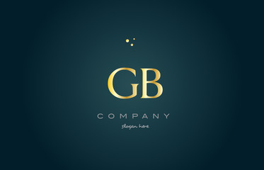 gb g b  gold golden luxury alphabet letter logo icon template