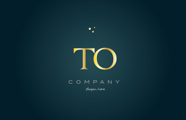 to t o  gold golden luxury alphabet letter logo icon template