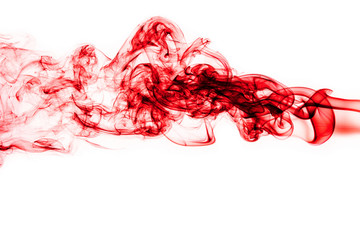 Wall Mural - Red Smoke abstract background.
