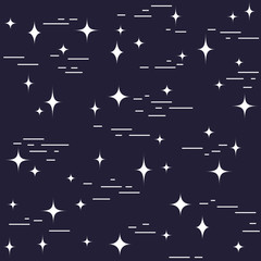 Modern stylish linear design with stars. Seamless vector pattern.