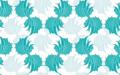 Classic floral damask seamless pattern