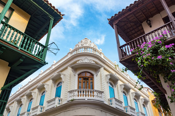 Fototapete - Balconies in Cartagena