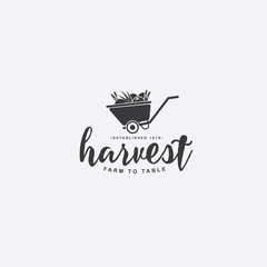 Food, Restaurant or farm icon symbol. Farm to table harvest logo inspiration. EPS 10 vector.