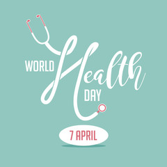 World Health Day design. EPS 10 vector.