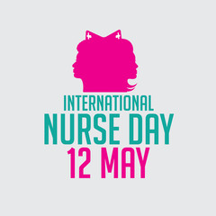International Nurse Day design.  EPS 10 vector.