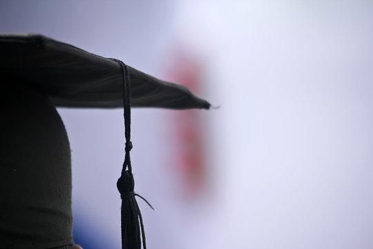 Man in a graduation cap