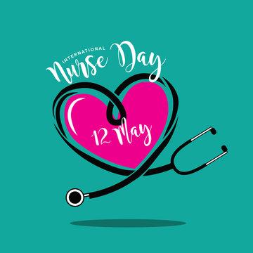 International Nurse Day design.  EPS 10 vector.