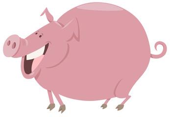 cartoon pig farm animal character