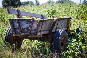 old cart at a farm