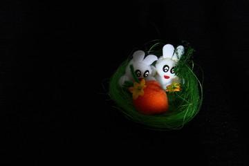 Coniglietti paurosi auguri di buona Pasqua