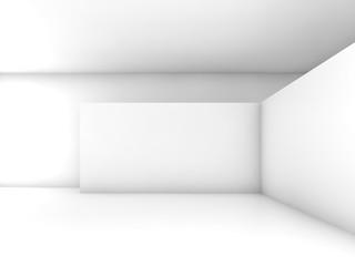 Abstract white empty interior, 3d design