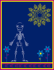 skeleton with flourishes