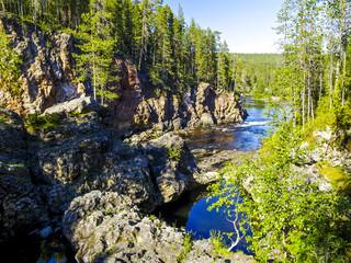 Oulanka Nationalpark, Fluss, Finnland, Nordostfinnland