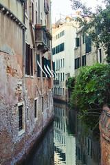 Traditionelle Alte Gebäude Von Wasserkanal in Venedig