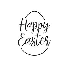 Happy Easter lettering in egg shape