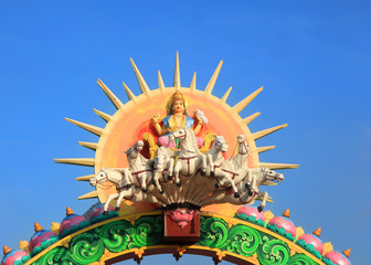 Statue of Hindu sun god Surya