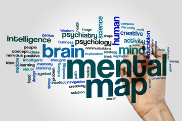 Mental map word cloud