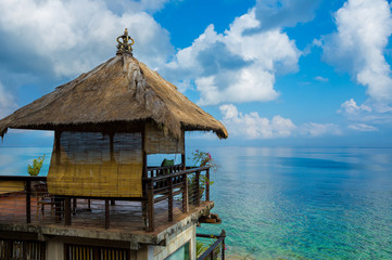 Straw hut over beach - Bali, Indonesia
