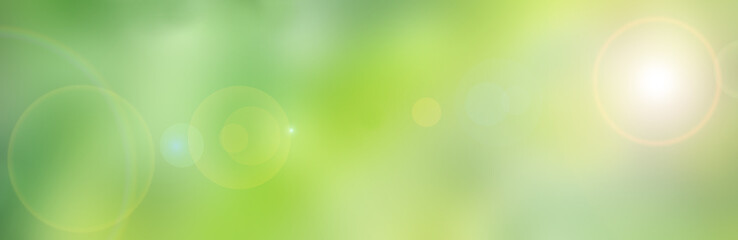 Hintergrund grün gelb, Frühlingsfarben, mit Blenden-Flecken - rechteckig, quadratisch - Blurred,...