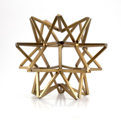Gold Tetrahedral Star