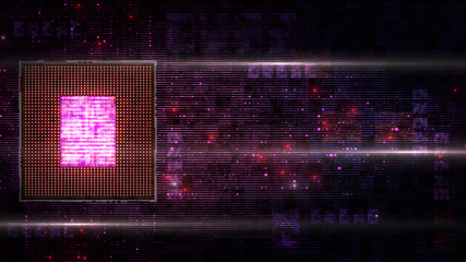 CPU matrix hologram board digital abstract background display