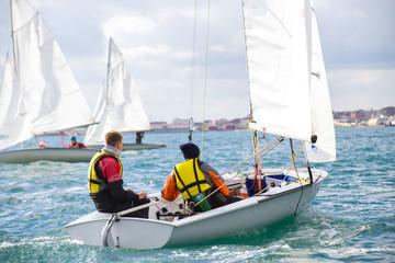 sailing Regatta on sea