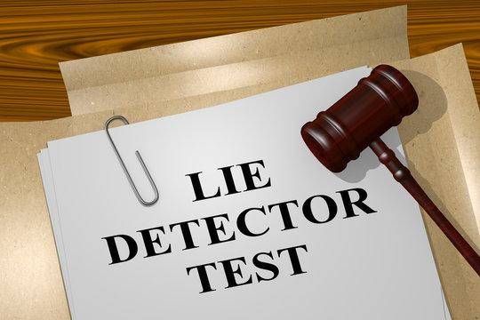 Lie Detector Test concept