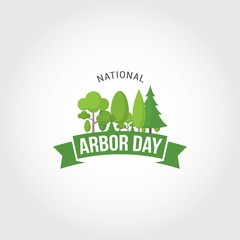 National Arbor Day Vector Illustration. Suitable for Greeting Card, Poster and Banner