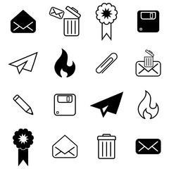 Set with different mail icons