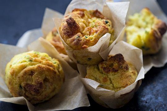 Cheese onion mini muffin