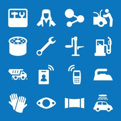 Set of 16 service filled icons