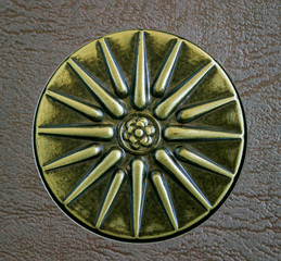 Sun of Vergina, the ancient Greek symbol. Star with sixteen rays.