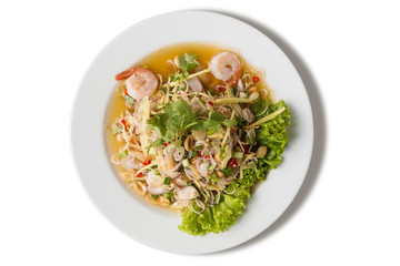 lemon glass salad with shrimp