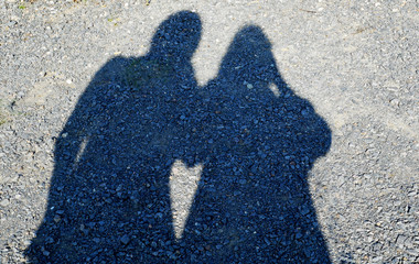Schattenspiel Menschen Herz