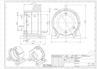 3D CAD Modell Gehäuse