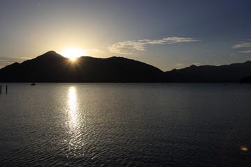 中禅寺湖の夕景