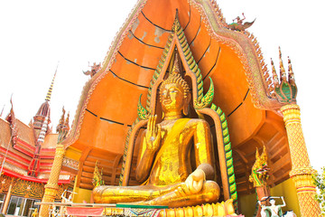 Big Buddha Statue at Wat Tham Sua Temple ,Kanchanaburi Province, Thailand.