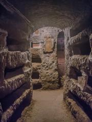Catacombe di San Pancrazio under the basilica in Trastevere, Rome