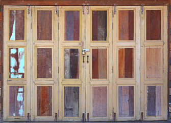 large wooden doors, The Thai style vintage wooden door.