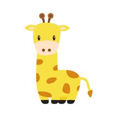 giraffe cartoon isolated vector