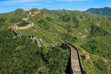 Great Wall of China in Simatai, China.