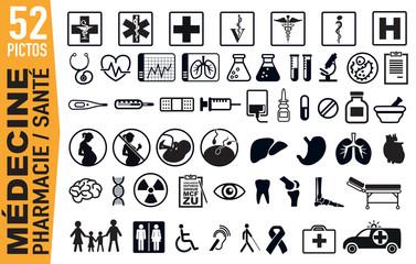 Icône -  Médecine - Santé - médical - Malade