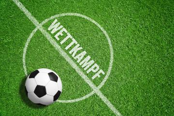 Wettkampf / Fußball / Rasen
