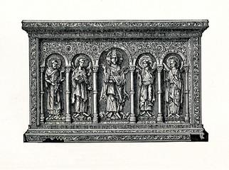 Basel's golden altarpiece, 11th century (from Meyers Lexikon, 1895, 7/736/737)