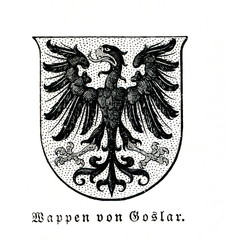 Coat of arms of Goslar, Germany (from Meyers Lexikon, 1895, 7/777)